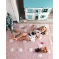 Ковер Polka Dots розовый-белый 120*160 Lorena Canals