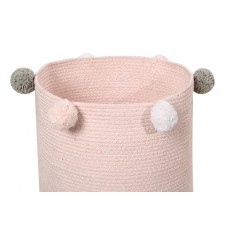 Корзина с помпонами розовая 30*30*30 Lorena Canals