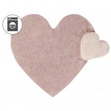 Ковер сердце с подушкой розовый 160*180 Lorena Canals