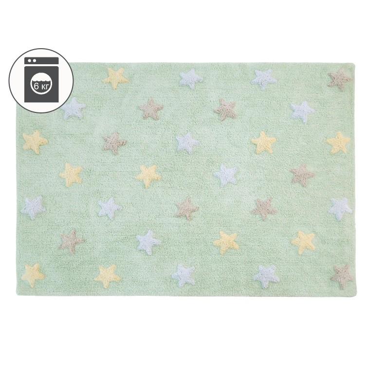 Ковер Stars Tricolor мятный 120*160 Lorena Canals