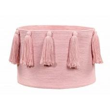 Корзина с кистями розовая 30*45 Lorena Canals
