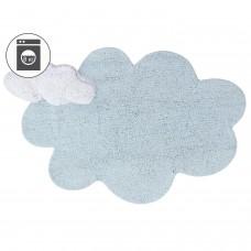 Ковер облако с подушкой голубой 110*170 Lorena Canals
