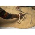 Ковер лист монстеры медовый 120*180 от Lorena Canals