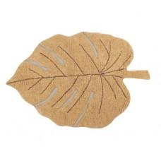 Ковер лист монстеры медовый 120*180