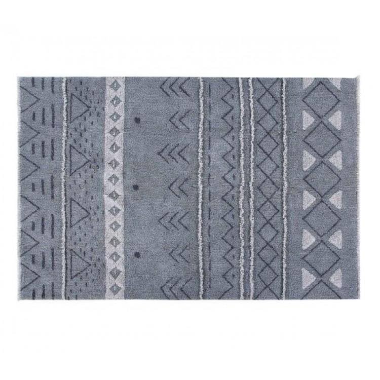 Шерстяной стираемый ковер Лакотская ночь 200*140 от Lorena Canals