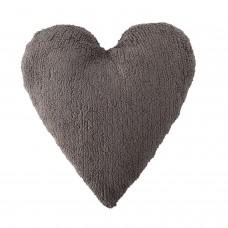Подушка Сердце темно-серая Lorena Canals