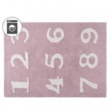 Ковер цифры розовый 120*160 Lorena Canals